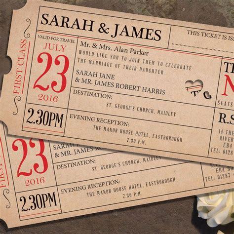Ticket Wedding Invitations ticket to wedding invitation gallery