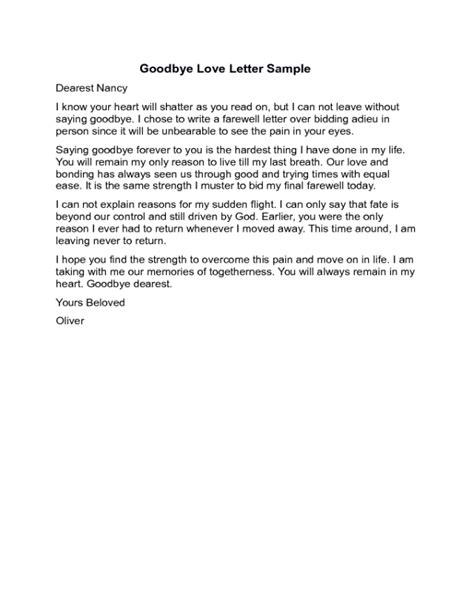 goodbye letter template 2018 goodbye letter templates fillable printable pdf