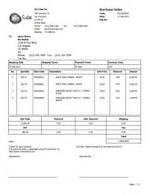 purchase template purchase order template