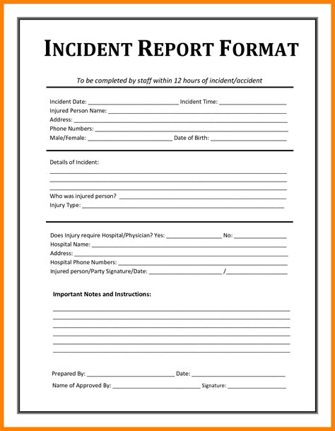 Workplace Incident Report Template 9 workplace incident report sales clerked