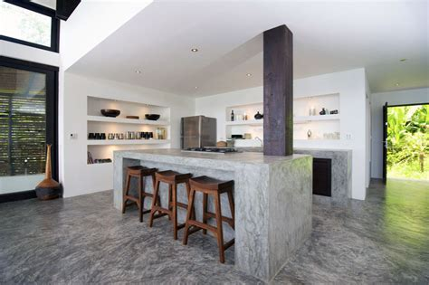 Concrete Kitchen Design Concrete Kitchen Island Design Villa Interior Design Ideas