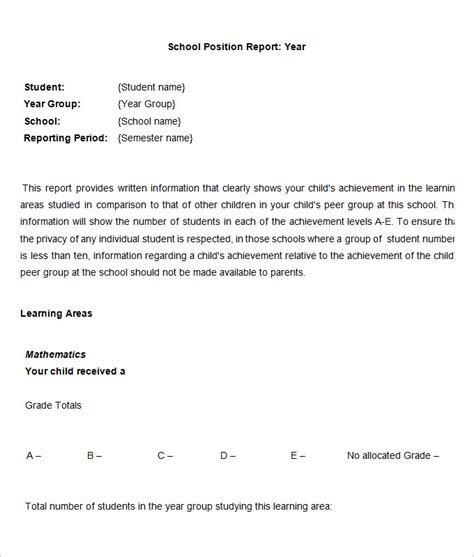 Report Writing For School Students by Sle School Report Templates Exles 14 Free Word Pdf Documents Free