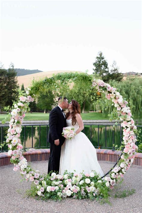 Wedding Arch Circular by Circular Floral Arch Pink Floral Arch Ideas Wedding