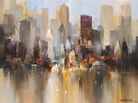 new painting artwork city of light 0014 wilfred lang