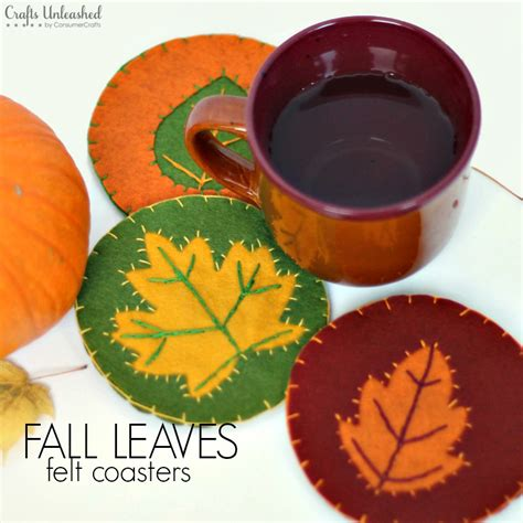 diy fall crafts for diy coasters for fall felt leaves crafts unleashed