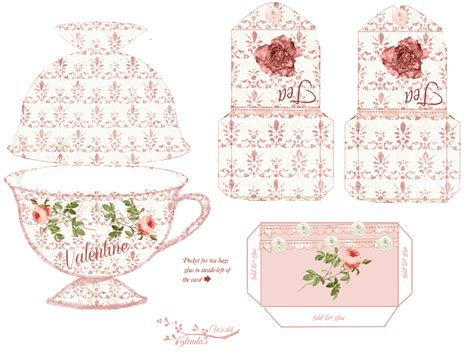s day card tea cup template glenda s world roses and tea card kit