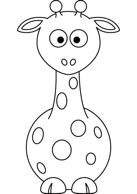 baby giraffe coloring page download free baby giraffe coloring page