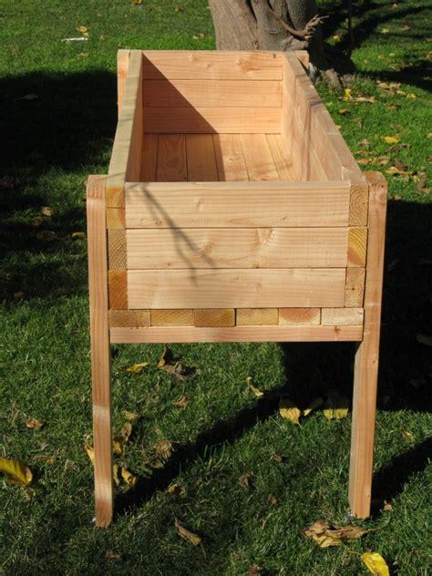 Raised Planter Box Plans by Raised Planter Box Elevated Garden Planter Box Waist