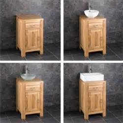 bathroom storage set solid oak 45cm small bathroom vanity unit cabinet ceramic