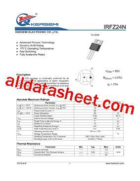Transistor Irfz24n irfz24n datasheet pdf kersemi electronic co ltd