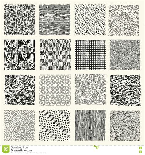 svg marker pattern set of hand drawn marker and ink patterns stock vector