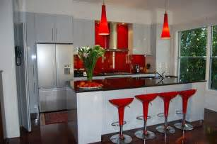 Red Kitchen Decor by Red Black And White Interiors Living Rooms Kitchens