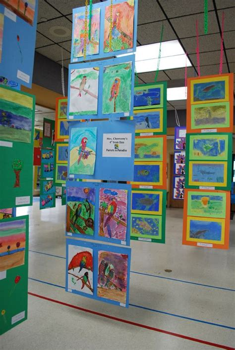 art display ideas a quot how to quot for creating hanging displays for school art