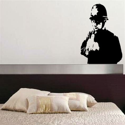Wall Stiker Uk 60x90 Wall Sticker Sepasang Ranting Daun Hijau rude copper from banksy on your wall it 180 s possible