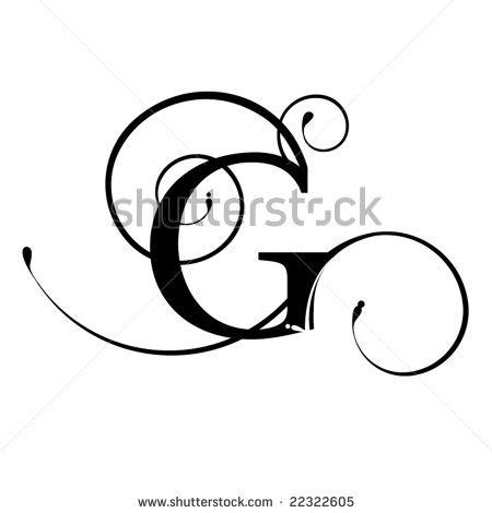 G Drawing Design by Fancy Cursive Letter G Sketch Coloring Page