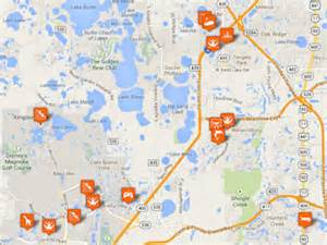 theme parks in florida map orlando family attractions hotels restaurants and pictures
