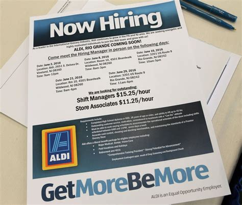 to apply for at 15 hundreds apply for 15 25 at middle township aldi