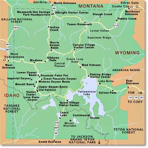 yellowstone lodging map explore amerika yellowstone national park