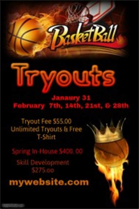 Customizable Design Templates For Tryouts Postermywall Basketball Tryout Flyer Template