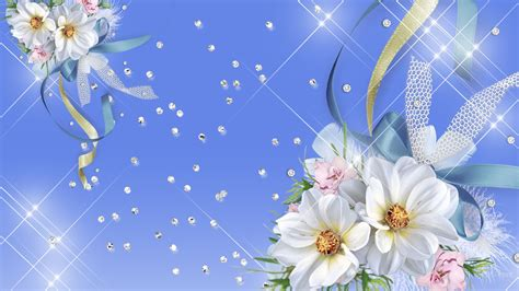 glitter wallpapers of flowers blue sparkle wallpaper 65 images
