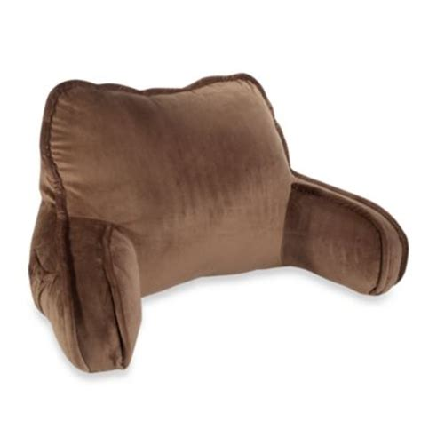 sitting up pillow for beds buy plush backrest pillow from bed bath beyond