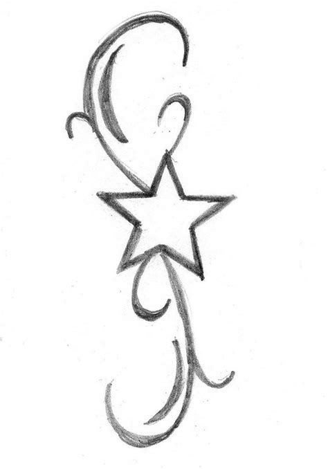 simple star tattoos simple outline design