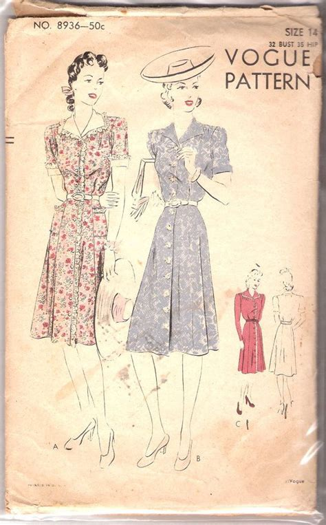 Swing Style Mode by Classic Day Dress 1938 Swing Style Mode 1930