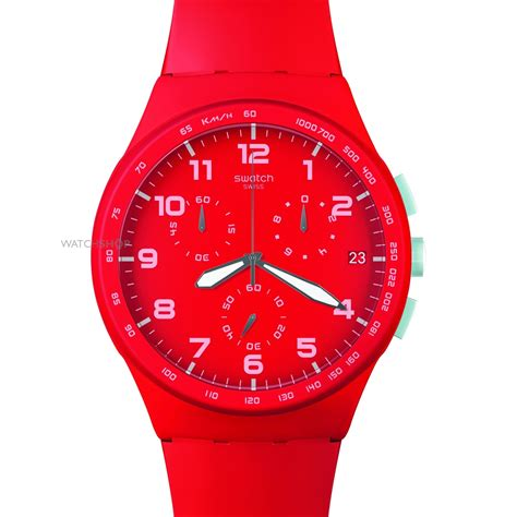 red swatch men s swatch red shadow chronograph watch susr400