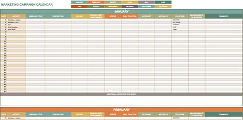 marketing schedule template image gallery marketing calendar