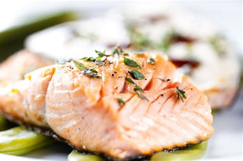 slow baked salmon with lemon and thyme recipe epicurious com