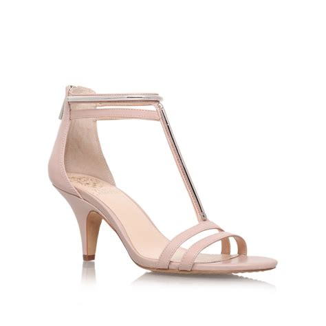 vince camuto high heels vince camuto mitzy high heel sandals in lyst