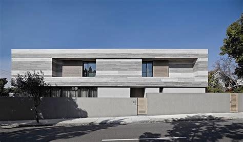 distinct black white exterior showcased by minimalist sleek melbourne home captivates with a creative