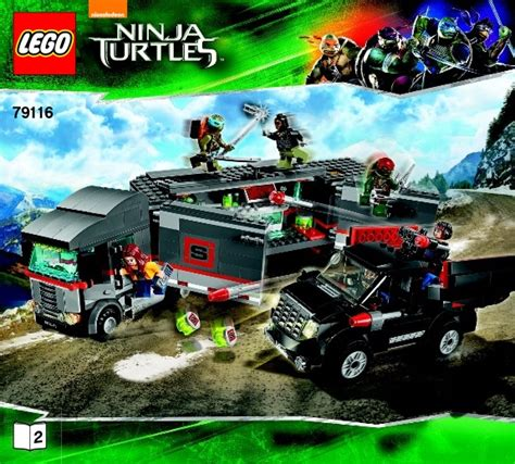 Lego Turtles 79116 Big Rig Snow Getaway lego big rig snow getaway 79116