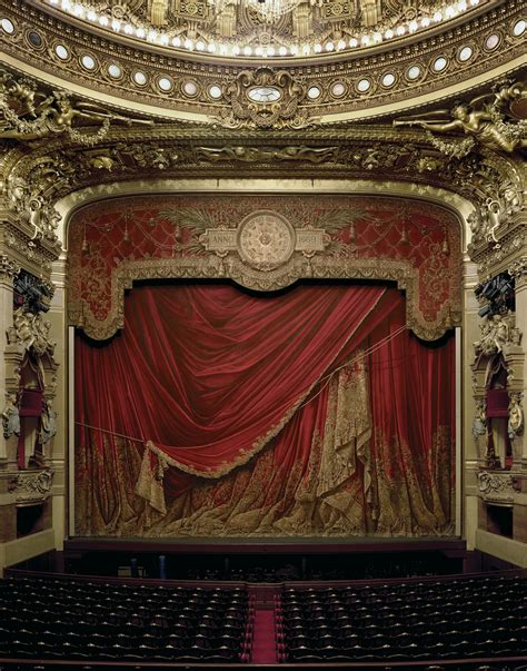 opera curtains large format photographs capture ornate opera houses from