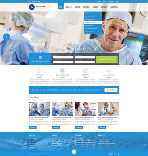 wordpress theme free hospital 35 best health and medical wordpress themes 2017 athemes