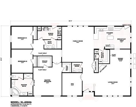 triple wide modular home floor plans triple wide mobile home floor plans durango homes xl