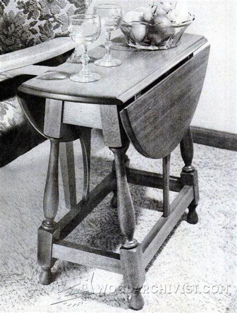 drop leaf table construction colonial drop leaf table plans woodarchivist