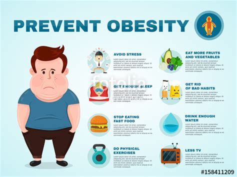 10 Ways To Prevent Obesity by Quot Vector Flat Illustration Character With A