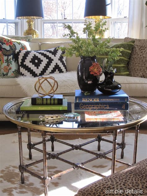 how to decorate a round coffee table simple details coffee table reveal and styling tips