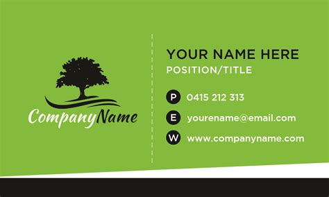 landscape business card template avery business cards templates landscaping images card design