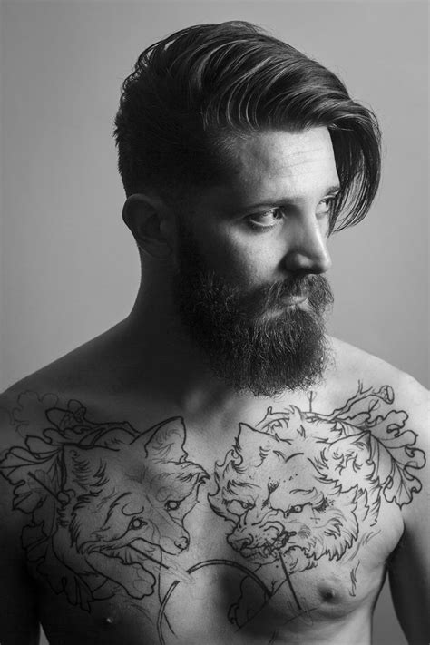 tattoos and beards thick beard and mustache beards bearded
