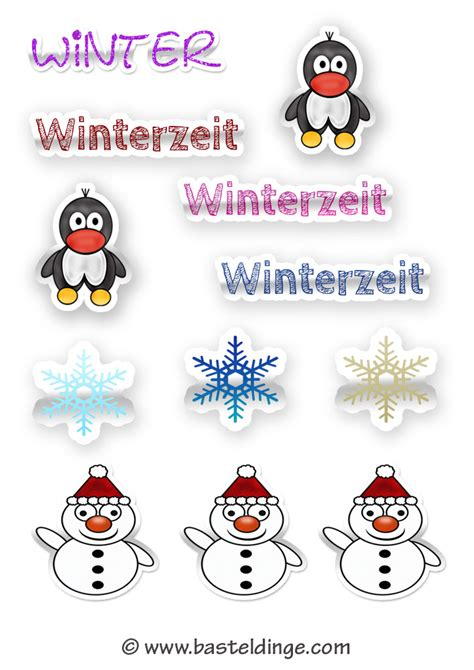 Aufkleber Nach Vorlage by Winter Sticker Und Aufkleber Vorlagen Basteldinge