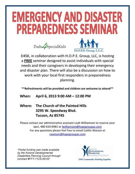 tucson emergency disaster preparedness plan event