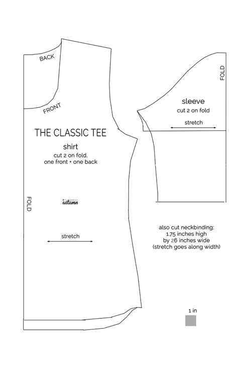sewing pattern t shirt the classic tee free pattern tutorials and learning