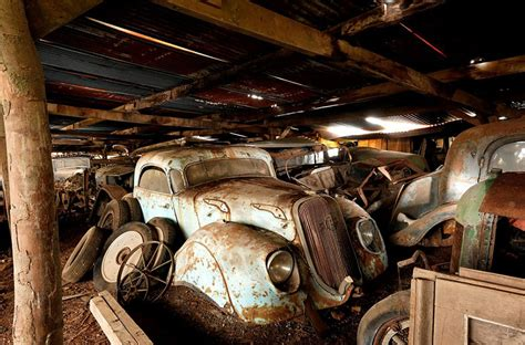 Garage Sale Finder La 60 Vintage Cars Found After 50 Years Of Neglect On