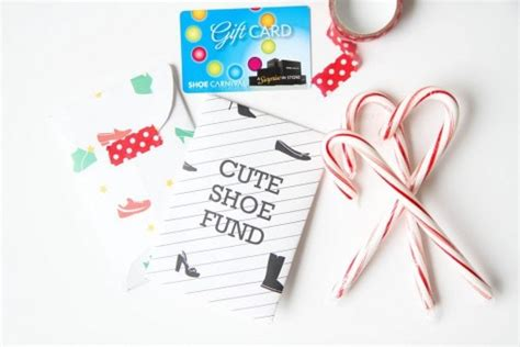 Shoe Gift Cards - free printables and downloads momadvice