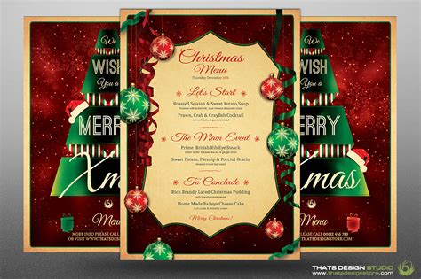 christmas menu template v7 by thats design store