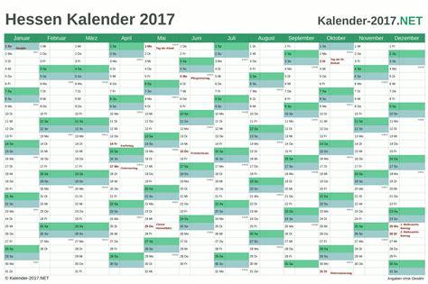 Jahreskalender 2018 Hessen Kalender 2017 Hessen