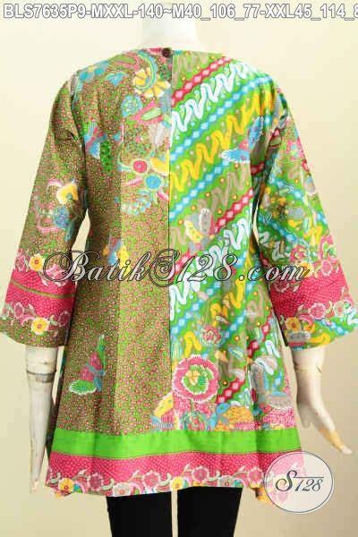 Batik Kotak by Blus Batik Motif Kombinasi Pakaian Batik Jawa Etnik
