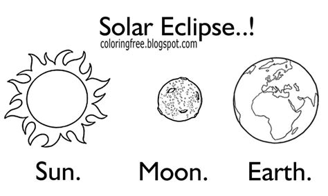 Solar Eclipse Line Drawing